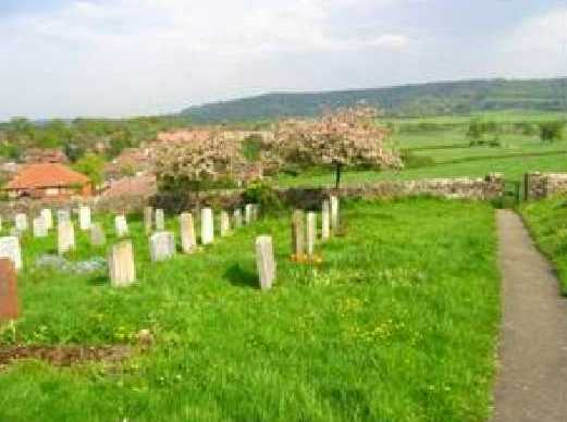 Phot of the churchyard looking over the North Downs