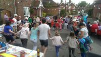 Village Street Party for the Queen's 90th