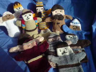 knitted bible characters